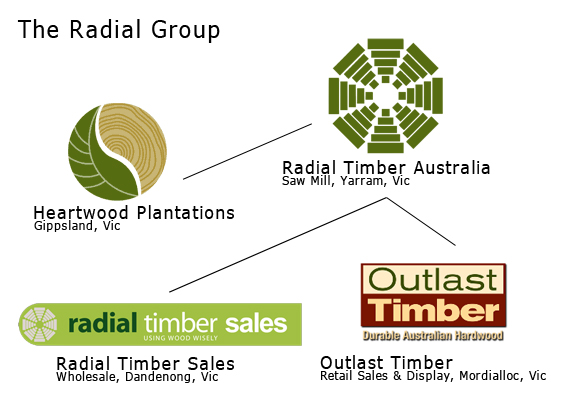 Organisational chart of Radial Group