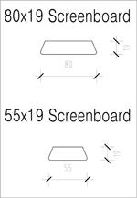 Screenboard 80x19 and 55x19