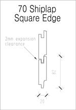 70 Shiplap Square Edge